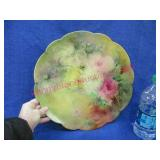 hand painted signed limoges plate -12.5in diameter