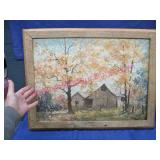 older brown county style painting (barnwood frame)
