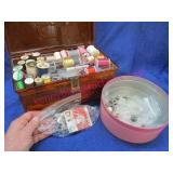 sewing kit & tin (misc sewing items)
