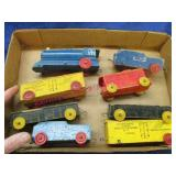 """old """"strom becker lines"""" wooden toy train pcs"""