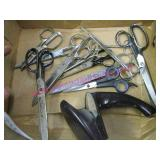 11 sets of scissors & a cutco sharpener