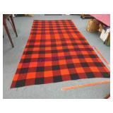 red-black wool plaid campfire blanket (5