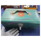 """old """"simonsen"""" green tool box (metal)"""