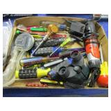 flat with screwdrivers -binoculars -bits -etc