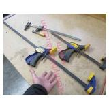 3 quick clamps (1 long - 2 shorter)