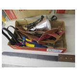 flat lot (homemade machete-tool belt-grips-light)