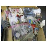 3 flats of electrical supplies & misc hardware