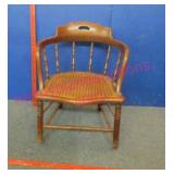 nice old bentwood caned armchair (shorter)