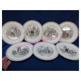 7 wedgwood england princeton university plates