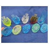 colorful salters & toothpick holder