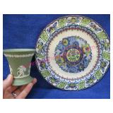 wedgwood england cup & old plate