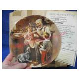1977 normal rockwell plate in box with coa