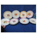 8 smaller fruit plates