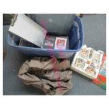20gal tote with lid -air mattress -music 8 tracks