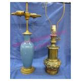 2 great old table lamps