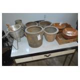 Pottery Crocks Dirt Plates
