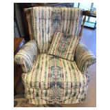 Damask Barrel Swivel Rocker