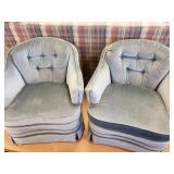 Pair of Clayton Marcus Barrell Chairs