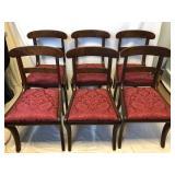 Set Of Six Mahogany Dining Chairs