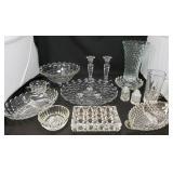 Jeanette Cut Glass Serving Pieces