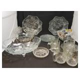 Glass Serving Pieces with Fruit & Flower Motif
