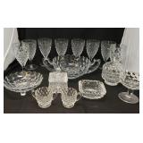 Jeanette Cut Crystal  Serving Pieces Lot 2