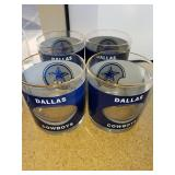 4 Dallas Cowboy Lowball Glasses