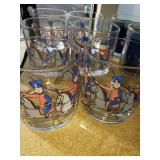 Set of 6 Lowball Patriots Glasses
