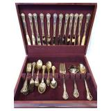 Godinger Gold Plated Flatware and Storage Box
