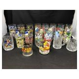 Large Lot Of Character Glasses