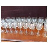 Set of 18  White Wine Glasses