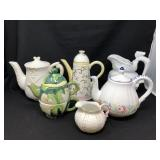 Assorted Pitchers , Teapots And More