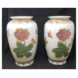 Pair of Painted Porcelian Vases