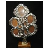 Pewter Family Tree Photo Frame