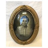 Antique Oval Bubble Photo Frame