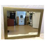 "36 "" x 43 1/2 "" Gold Framed Mirror"