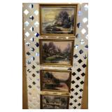 Four Thomas Kinkade Prints