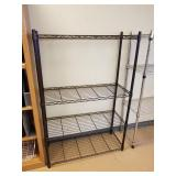 Metal Storage Rack - Dark Brown