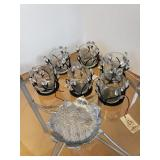 Set of Patio Candle Holders & Fitz & Floyd Dish