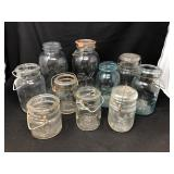 Vintage Canning Jar Assortment