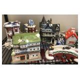 Ceramic Christmas Village Pieces