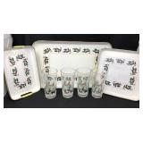 Christmas Trays and Glasses
