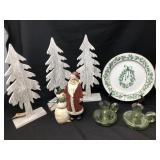 Christmas Decor With Wood Snow Trees & More