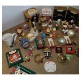 Basket of Christmas Ornaments