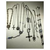 Lot Of Nine Necklaces