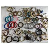 Large Lot Of Bracelets