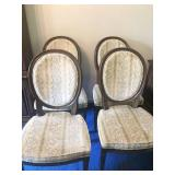 Vintage Round Back Upholstered Chairs