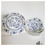 Blue Nordic Ironstone Bowls