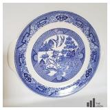Blue Willow Ware Chop Plate with Handles