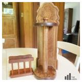 Wooden Paper Towel and Napkin Holder